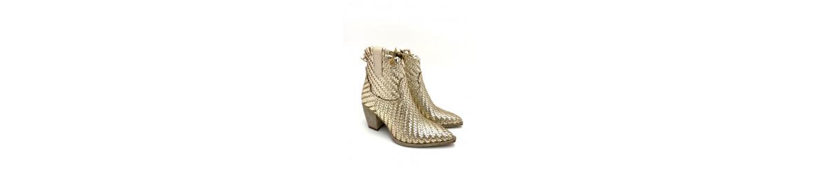 chaussures femme bottine boots mode plates talon tendances imprimées