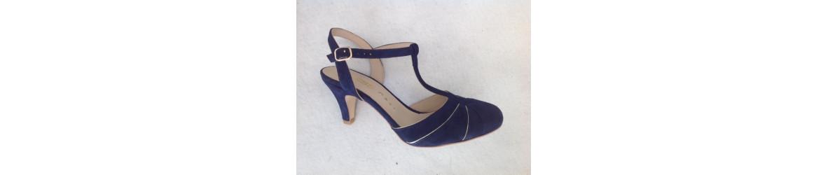 chaussures femmes escarpins salomé bout rond