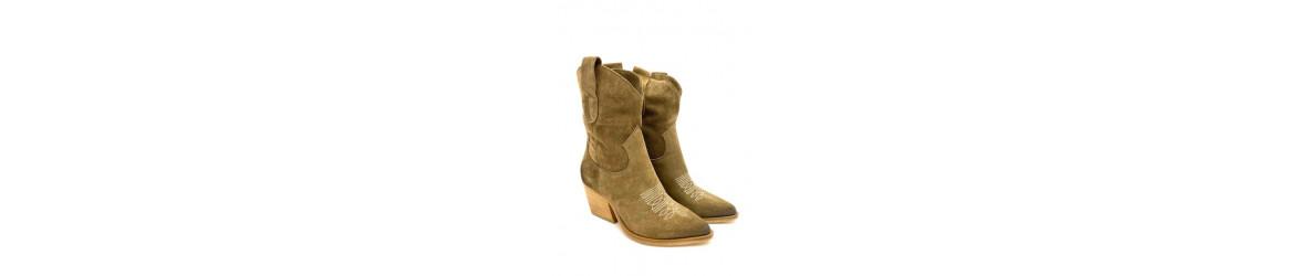 Chaussures femmes Bottes, cuissardes  genouillères mode  cuir daim