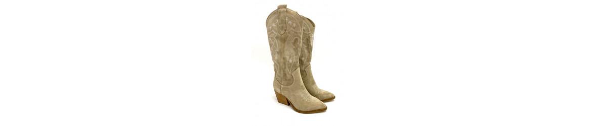 Chaussures femmes Bottes 7cm, cuissardes  genouillères mode  cuir daim