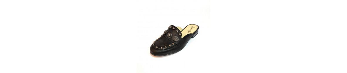 chaussures femmes mules plates, pour un look mode bohème chic